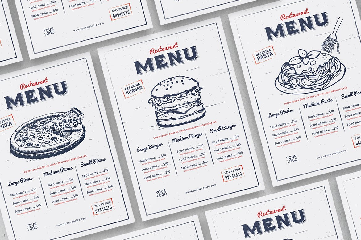 Menu Printing | Rush Flyer Printing