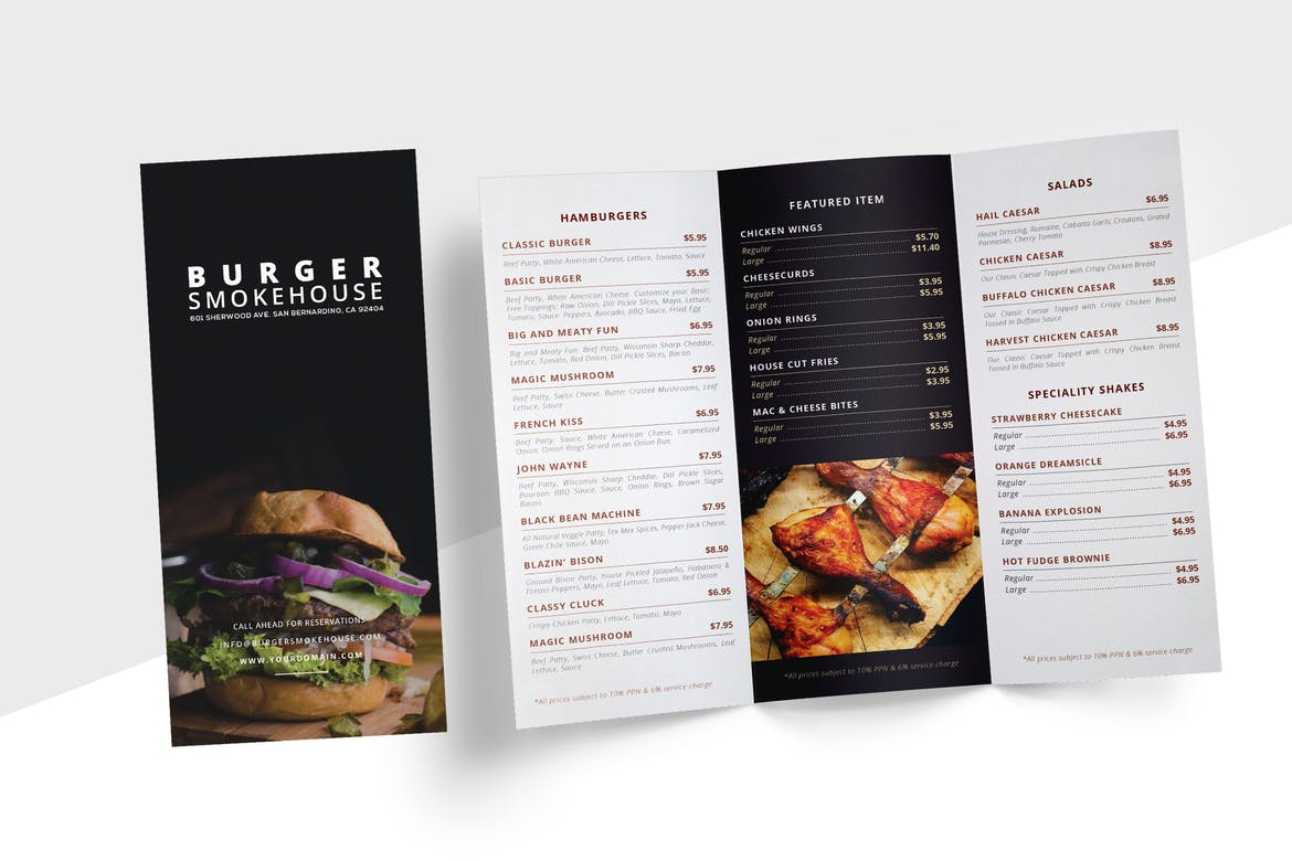Tri-Fold Menu | Rush Flyer Printing