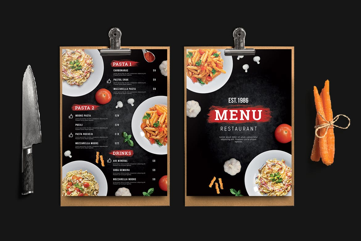 One Sheet Menu | Rush Flyer Printing